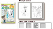 Deleter Beginners Screen Tone Jr Kit of 4 Sheets with Practise Images [ Kit C ] for Comic Manga Illustration
