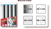 Deleter Screen Tone Set of 4 Sheets [ Volume 10