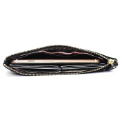 Boshiho Leather Credit Card Holder Wallet Womens Slim Clutch Long Purse Credit Card Case Wallet