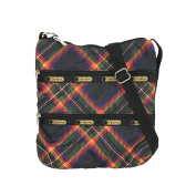 LeSportsac Kylie Crossbody Bag, Cosy Plaid Black
