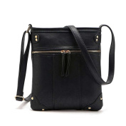 Jiaruo Simple Double Zipper Women Small Shoulder messenger Crossbody Bag