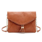 Jiaruo Tassel Women Leather Envelope bag Shoulder bags Chains Ladies bags