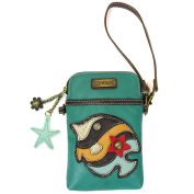Chala Cell Phone Xbody-Tropical Fish-Turquoise
