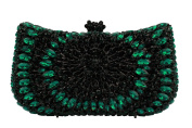 YILONGSHENG Crystal Clutch Bags For Women EB0535 Dark Green