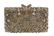YILONGSHENG Women Rhinestones Evening Bags EB0123-2 Gold & White