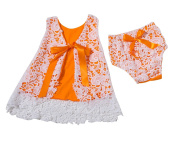 LaoZan Dresses For Toddler Girls Sleeveless Flower Lace Bowknot Baby Girls Dress With Underpants