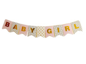 Idiogram BABY GIRL Paper Bunting Banner Birthday Party Shower Christening Garland Decoration Favours