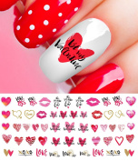 Valentine's Day Nail Decals Set #3 Salon Quality Nail Art Decals!
