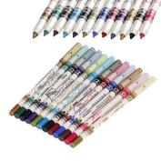 12 Colours M.n. Waterproof Glitter Eyeliner Eyeshadow Lip Pencil Pen Cosmetic Makeup 10006435 by 287 Shop