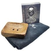 Luxury Beard Conditioner/Soap Kit - Tray | Beard Towel | Scrub Bag | Conditioner