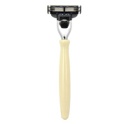 Ivory Mach 3 Shaving Razor Handle by Boss Razors