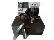 Cardinham Killigrew Wooden Straight Razor Set Shave Kit with Straight Razor shave set personalised mens gift straight razor kit shave balm and soap