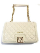 LOVE Moschino Superquilted Crossbody Cream Cross Body Handbags