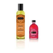 Kama Sutra Aromatic Massage Oil Sweet Almond 240ml & Kama Sutra Oil Of Love Strawberry Dreams 100ml