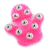 EYX Formula Palm Shaped Gloves Metal 9 360-degree-roller Roller Ball Massager ,Body Massager Beauty Body Care Tool Roller Massager for Body Beauty