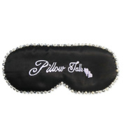 Ayygiftideas Natural Silk Sleeping Eye Mask Diamond Pearl Adjustable Strap Eye Patch