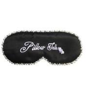 Ayygiftideas Natural Silk Sleeping Eye Mask Diamond Pearl Adjustable Strap Eye Patch