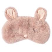Ayygiftideas New Fashion Plush Rabbit Eye Mask Cute Sleeping Blindfold Eye Cover