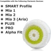 Acne Replacement Brush Head – Engineered For Sensitive, Acne-Prone Skin - Extra-Plush Bristles To Provide Ultra-Gentle Cleansing - SMART Profile, Mia 1, Mia 2, Mia 3 (Aria), PLUS, PRO, Alpha Fit