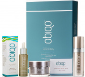 Obiqo Gift Box - Facial Serum, Smoothing EyeCream, Restoring Night Cream Combination