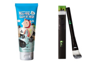 Elizavecca Milkypiggy Hell-Pore Clean Up Nose Mask + Pack Brush SET