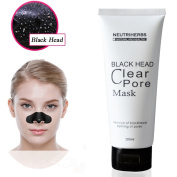 NEUTRIHERBS Black Mask, Deeply Cleanser Tightening Friming Blackhead Removal 100ML