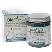 Biofinest Dead Sea Mud Mask - with Shea Butter, Aloe Vera, Collagen - Best Facial Pore Minimizer, Wrinkles Reducer, Pores Cleanser