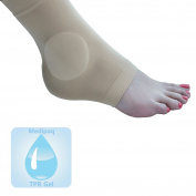 Medipaq Gel Both Ankles Protection Sock - Protect Lateral & Medial Malleolar Protruding Ankle Bones 1X Support