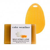 cake weather MILK HONEY LOVE Handcrafted Soap & Sponge Set