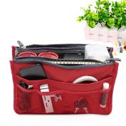Mermaid Tidy Zip Insert Organiser Compact Purse Handbag Pouch, 13 Compartments, 10.8 x 3.5 x 6.5''