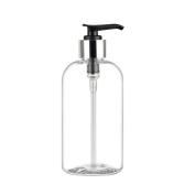 MoYo Natural Labs Boston Round Liquid Dispenser Soap Bottle 8 oz with Elegant Black Lotion Pump 236ml 8 ounce 1 pack soap dispenser