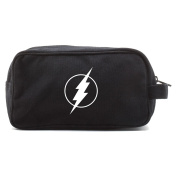 Flash Comic Superhero Canvas Dual Two Compartment Travel Toiletry Dopp Kit Bag