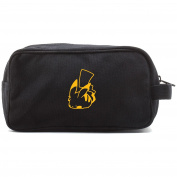 Pokemon Pikachu Poke Ball Canvas Dual Two Compartment Travel Toiletry Dopp Kit