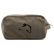 GTI Devil Canvas Dual Two Compartment Travel Toiletry Dopp Kit Bag