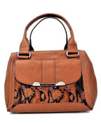 B. Makowsky Women Handbags Satchel, Maple Python