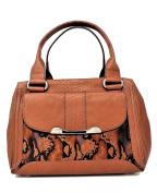 B. Makowsky Women Handbags Satchel, Maple Python