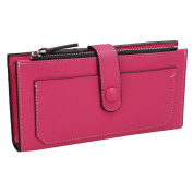eshion Womens Ladies Long Wallet Leather Zipper Coin Card Clutch Purse Handbag Bag