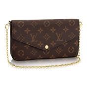.   Monogram Canvas Pochette Felicie Wallets Handbag Clutch Article:M61276