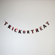 Quasimoon Trick-Or-Treat Bloody Halloween Paper Garland Banner (1.5m) PaperLanternStore