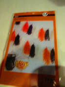 Orange, Black, White 2.1m Tissue Paper Tassels, Tassel Garland Bunting for Wedding, Baby Shower, Festival Items & Christmas Decorations, 16 hanging pcs