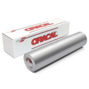 Oracal 651 Glossy Permanent Vinyl 30cm x 1.8m - Metallic Silver Grey
