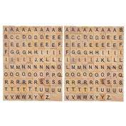 Happy Hours - Individual Alphabet Letters Scrabble Tiles Set / DIY Wooden Letter Crafts For Children Student