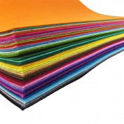 48pcs Felt Fabric Sheet Assorted Colour Felt Pack DIY CraSquare fts Nonwoven