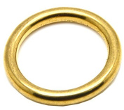 2.5cm Solid Golden O- Ring for Webbing Strapping Flat Cords Belting Leather craft Pack of 25
