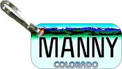 Personalised Colorado Colour 2000 Zipper Pull State Licence Plate Replica
