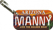 Personalised Arizona Golden Zipper Pull State Licence Plate Replica