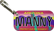 Personalised Arizona Protect Zipper Pull State Licence Plate Replica