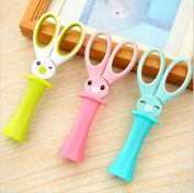 3pc Magic Rabbit Children Scissors Multipurpose Office Scissors Stainless Steel Scissors Student DIY Paper Cutting Knife by Fascola