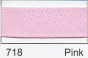 Essential Trimmings R77725/718 | Pink Polycotton Bias Binding | 25mm x 20m