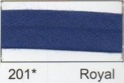Essential Trimmings R77725/201 | Royal Blue Polycotton Bias Binding | 25mm x 20m
